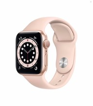 Смарт-часы Apple Watch S6 40mm Gold Aluminum Case with Pink Sand Sport Band (MG123RU/A)
